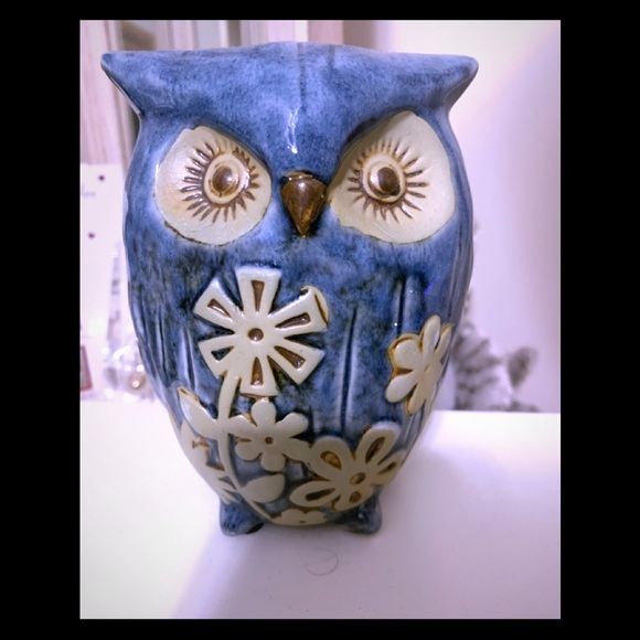 None Other - Decorative Ceramic Blue Owl